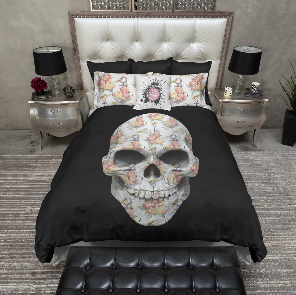 Floral Anchor Skull Bedding Collection
