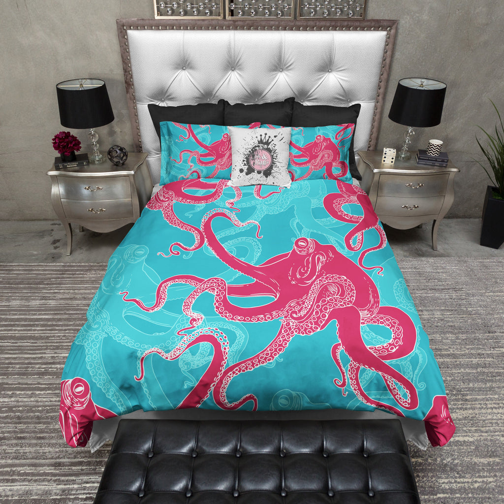 Jewel Tone Octopus Bedding Collection