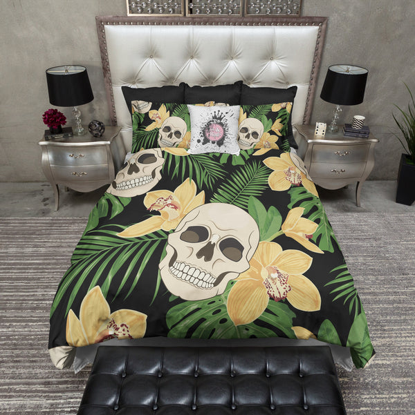 Tropical Skull Bedding CREAM