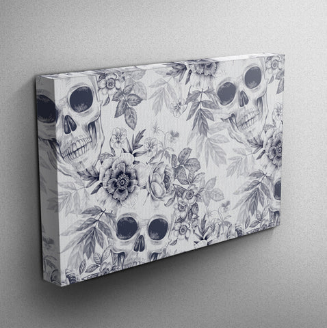 Blueprint Gallery Wrapped Canvas