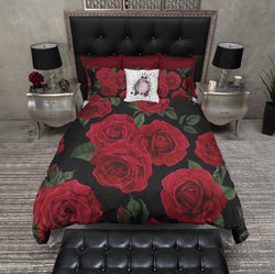 Romantic Red Rose Duvet Bedding Sets