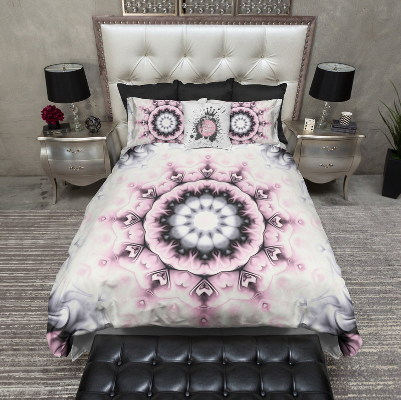 Pink Liquid Mandala Duvet Bedding Sets