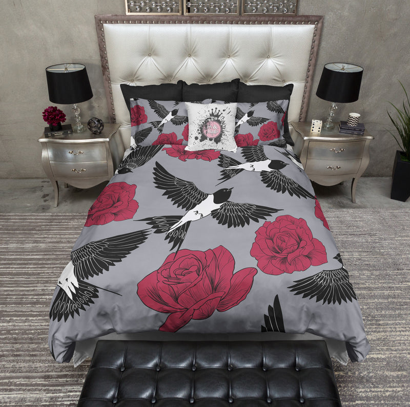 Red Rose and Swallow Bedding