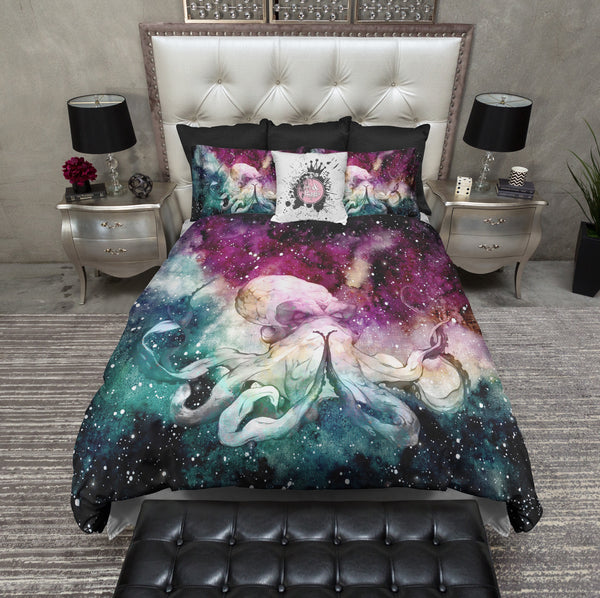 Galaxy Octopus Bedding
