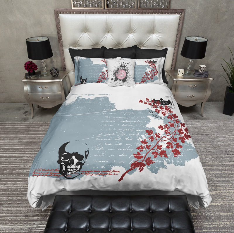 Love Letters from Beyond Skull Bedding