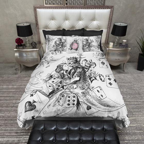 King of Spades Poker Joker Skull Duvet Bedding Sets