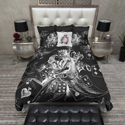 King of Spades Poker Joker Black Bedding