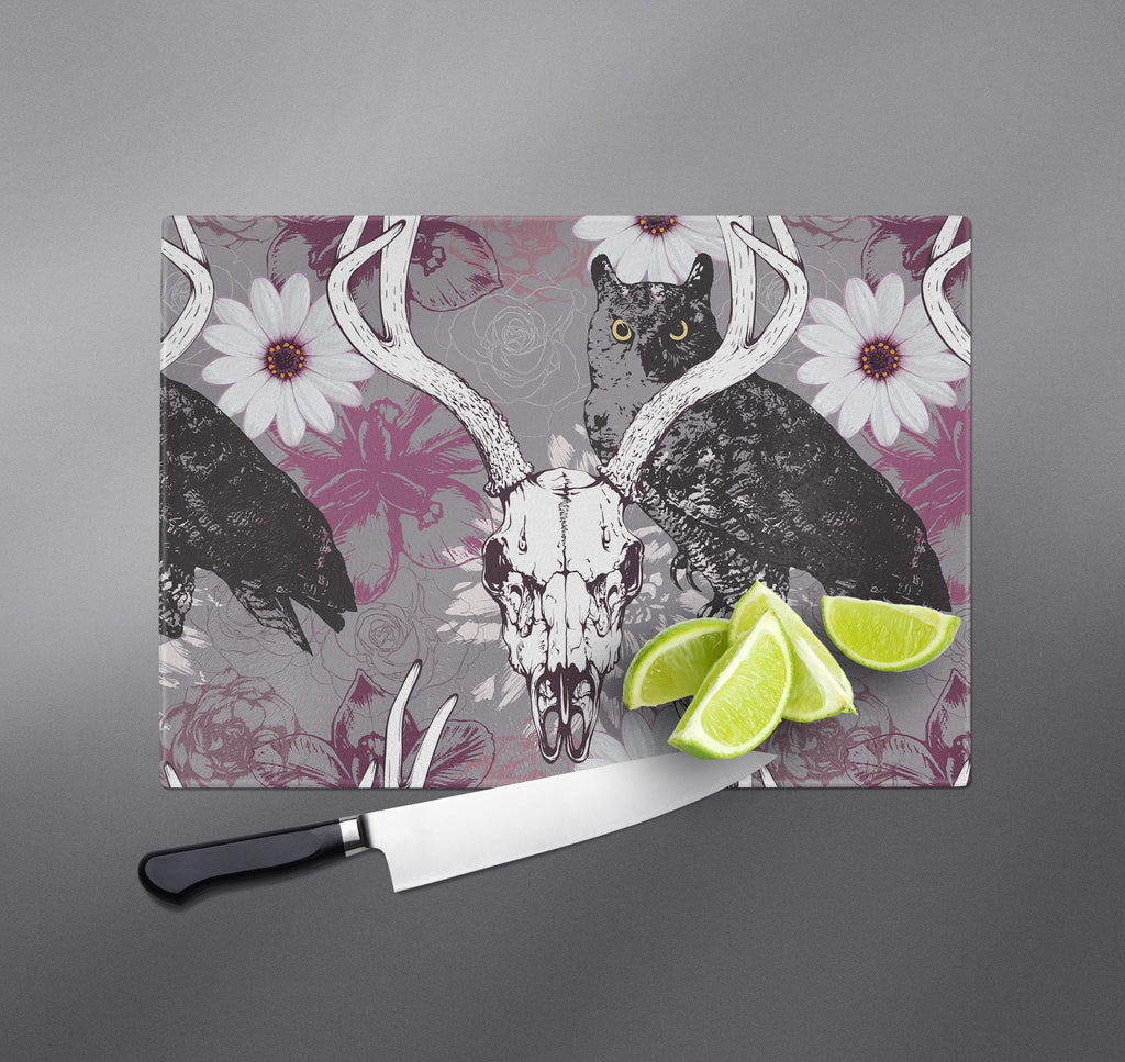 Buck Skull and Owl Cutting Boards