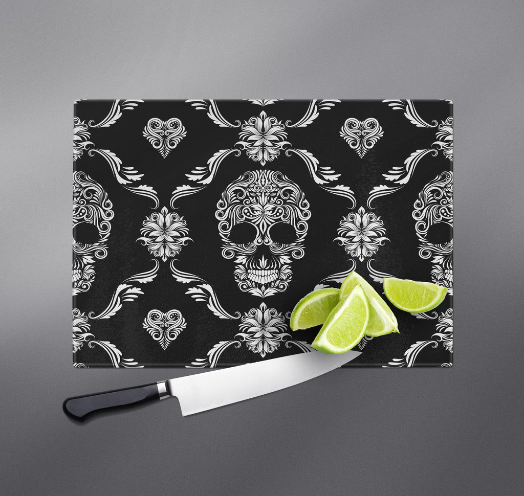 Daisy Chain Sugar Skull Cutting Boards