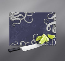Navy Blue Tentacle Cutting Boards