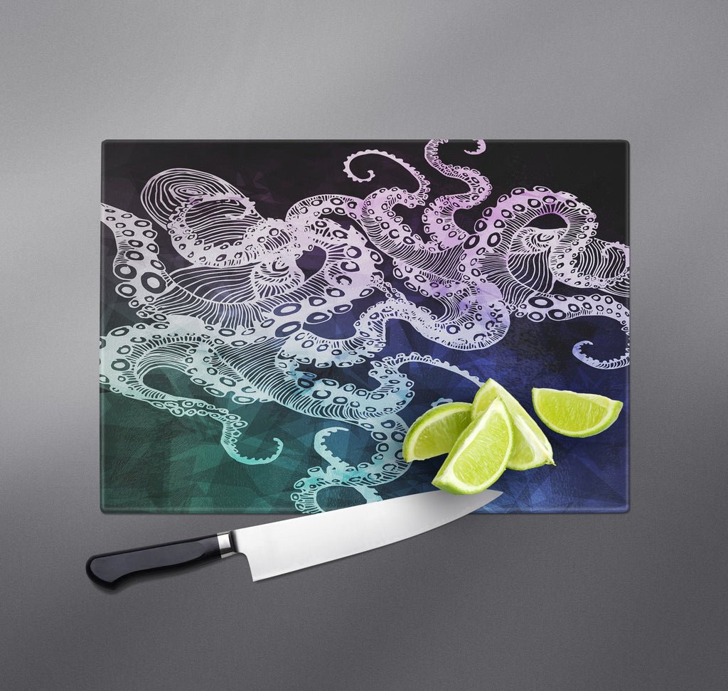 Midnight Octopus Cutting Boards