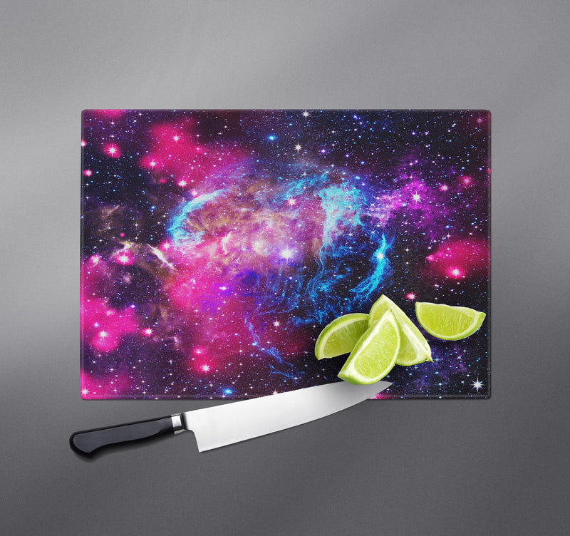 Pink and Blue Galaxy Cutting Boards
