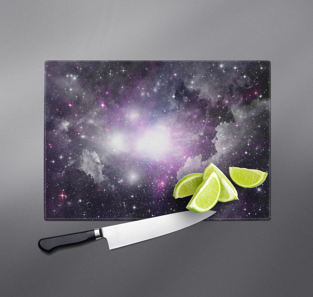 Purple Nebula Galaxy Cutting Boards
