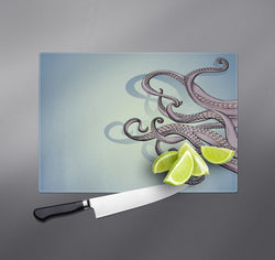 Purple Octopus Tentacle Cutting Boards