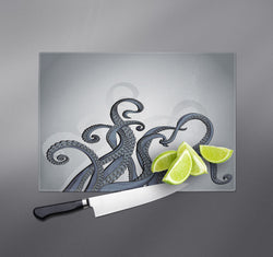 Slate Blue Octopus Tentacle Cutting Boards