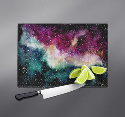 Watercolor Galaxy Cutting Boards
