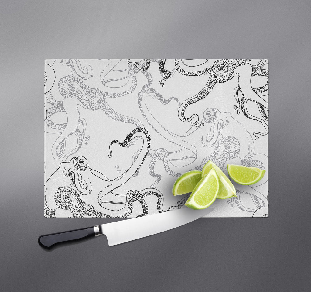 White Octopus Cutting Boards