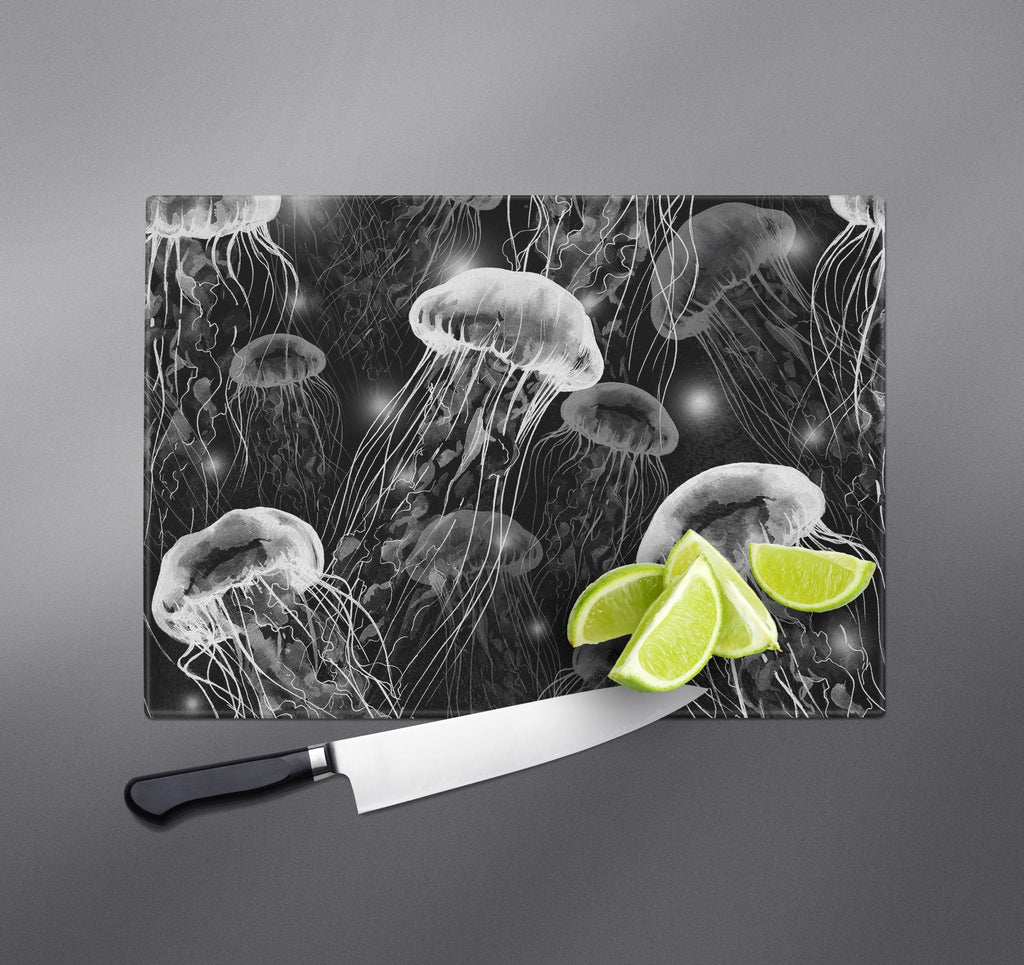 Black and White Jellyfish Cutting Boards