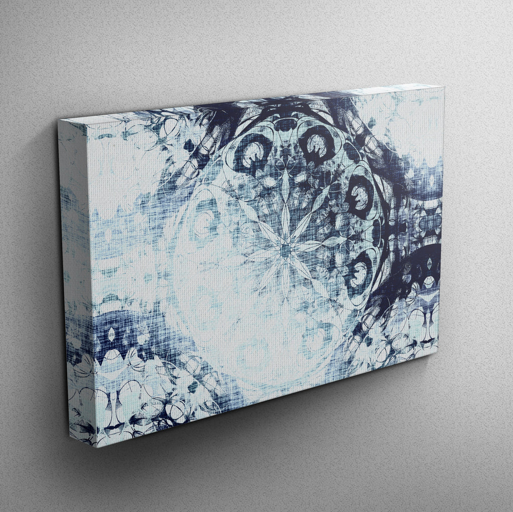 Boho Ombre Mandala Wrapped Canvas