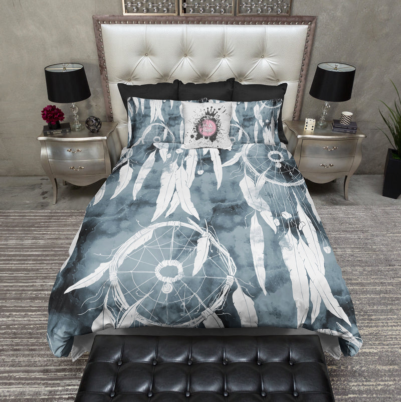 Sun Print Watercolor Blueprinting Dreamcatcher Bedding
