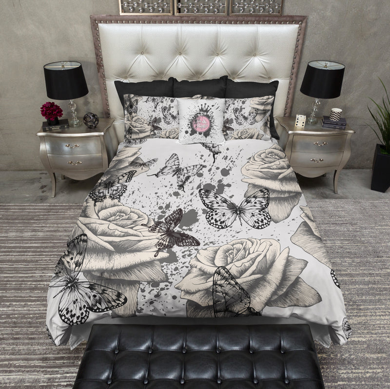 Vintage Rose and Butterfly Bedding