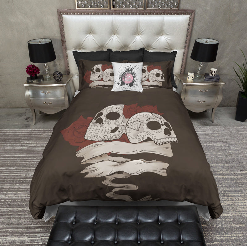 Man and Wife Sugar Skull Bedding