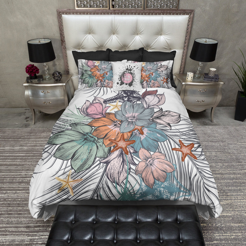 Tropical Flower and Starfish Bedding