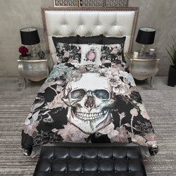 Mother Earth Skull and Flower Bedding