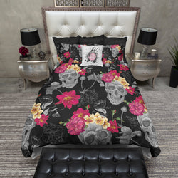 Fuchsia Color Pop Sugar Skull Bedding