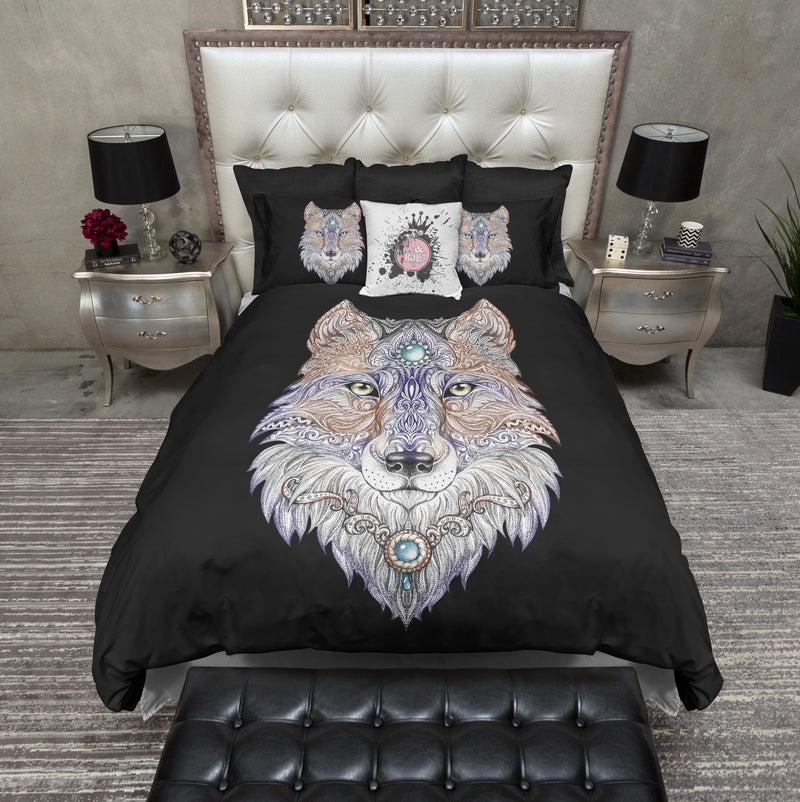 Mother Wolf Bedding BLACK