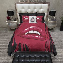 Love Bites Vampire Lips Bedding