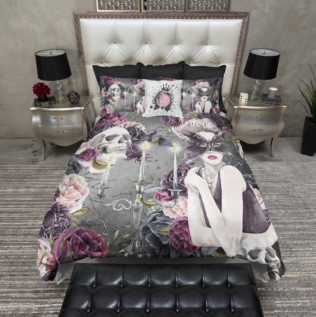 Mistress Bat Vampire Skull Bedding Collection