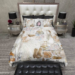 Country Ladies Whiskey and Horse Bedding