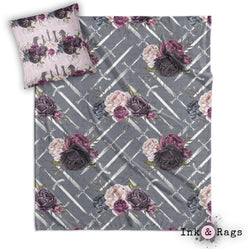 GOT Inspired Sword and Rose Decorative Throw and Pillow Set