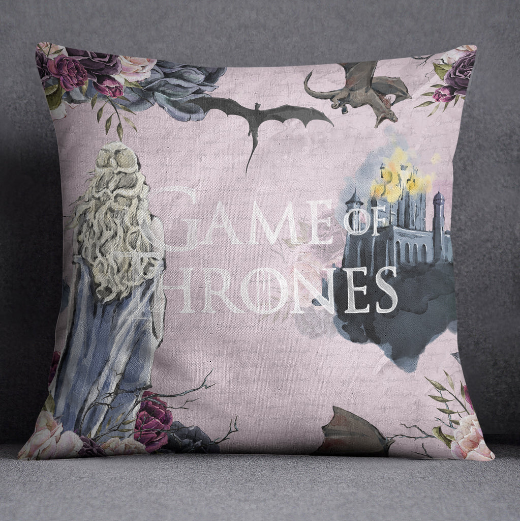 GOT Inspired Castle Decorative Throw and Pillow Cover Set