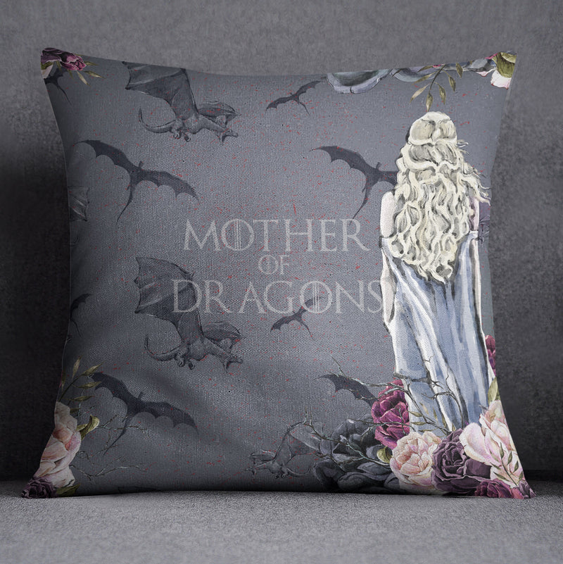 Mother of Dragons GOT Inspired Decorative Throw and Pillow Cover Set