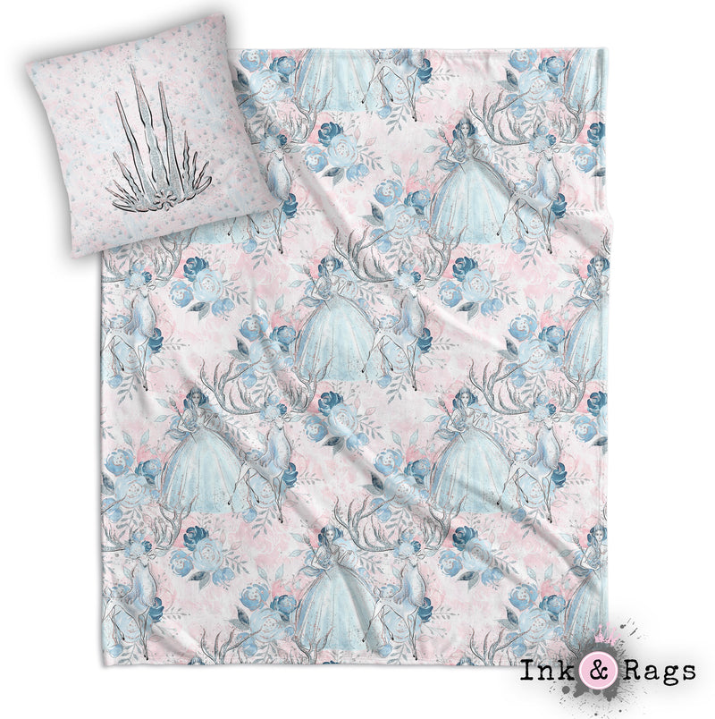 Ice Queen Nursery Throw and Pillow Cover Set
