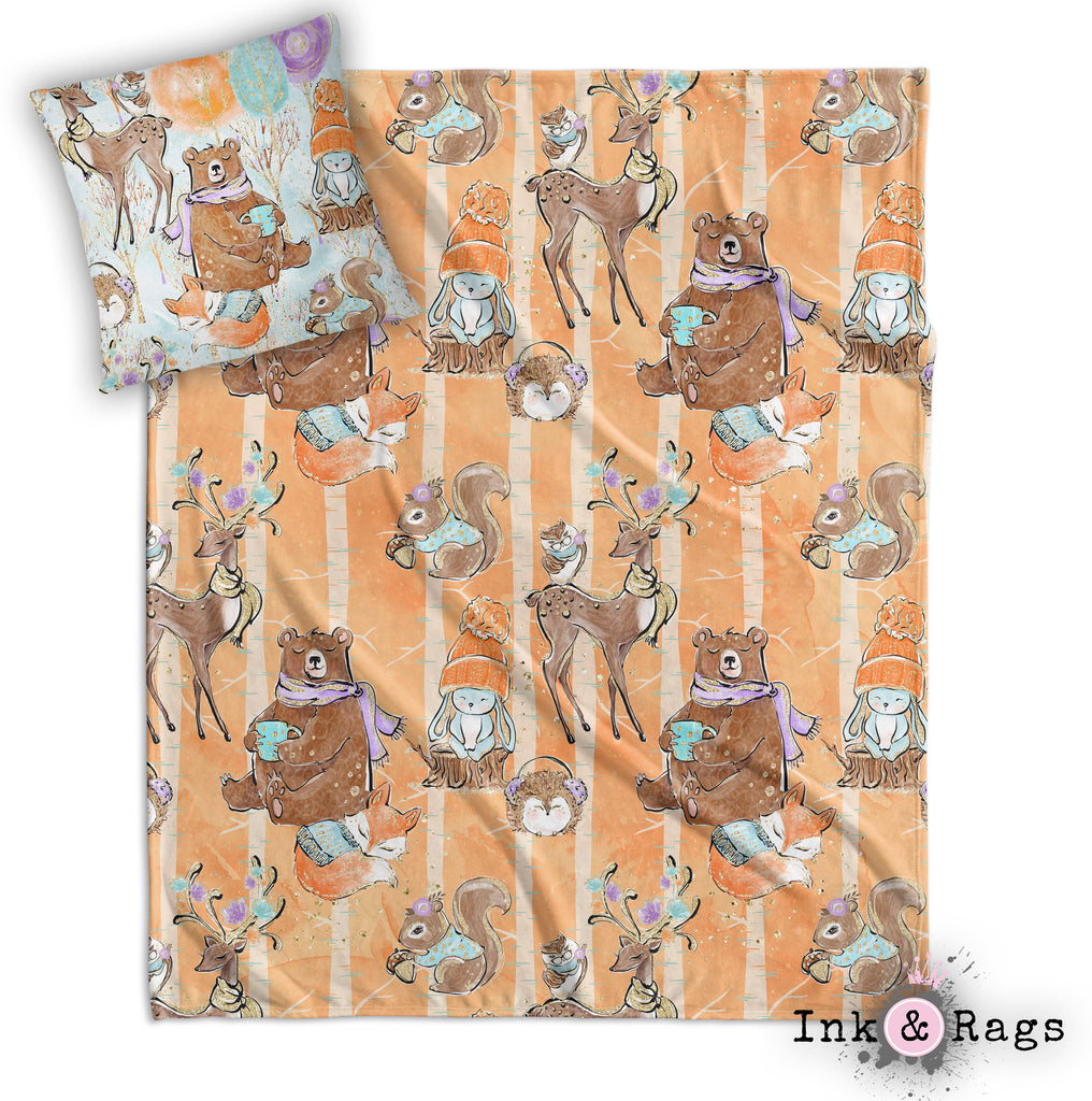 Woodland Mornings Nursery Throw and Pillow Cover Set