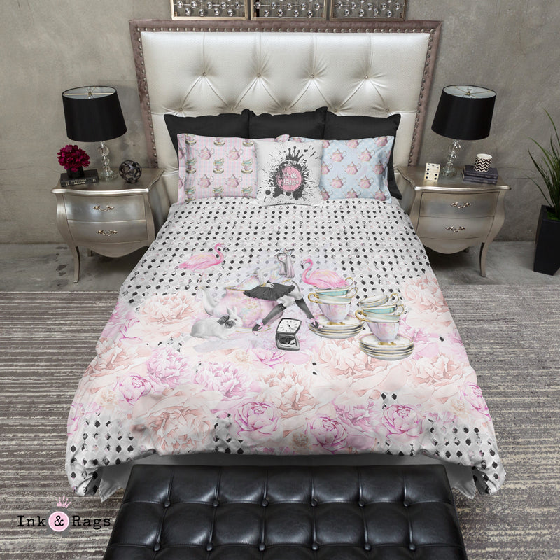 Mad Tea Party Alice in Wonderland Inspired Fashion Bedding