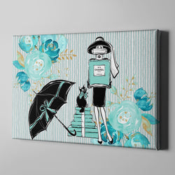 Shopping with Audrey Breakfast at Tiffany Inspired Fashion Gallery Wrapped Canvas