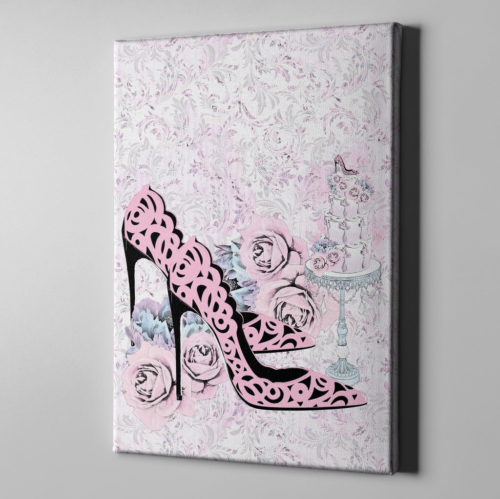 Marie Antoinette Inspired Baroque Fashion Gallery Wrapped Canvas