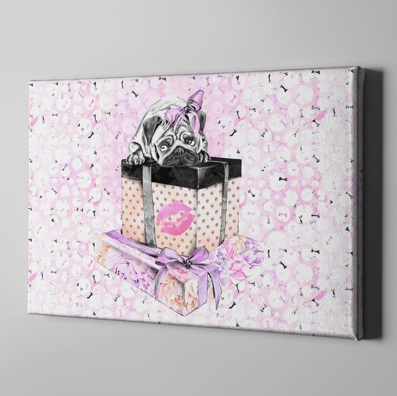 Pug Love A Girls Best Friend Fashion Gallery Wrapped Canvas