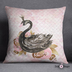Black Swan Fashion Decorative Throw Pillow Cover
