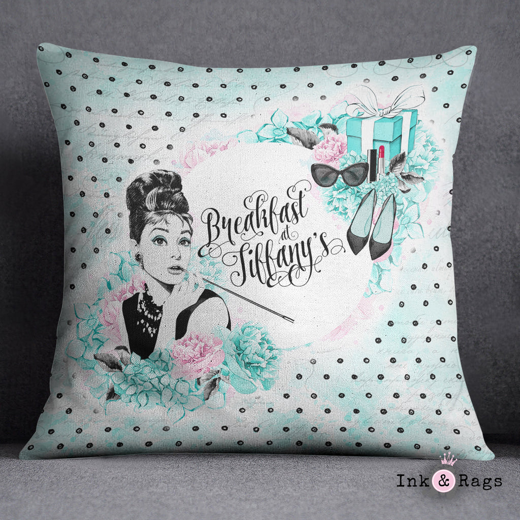 Breakfast at Tiffany Beauty and Fashion Throw Pillow
