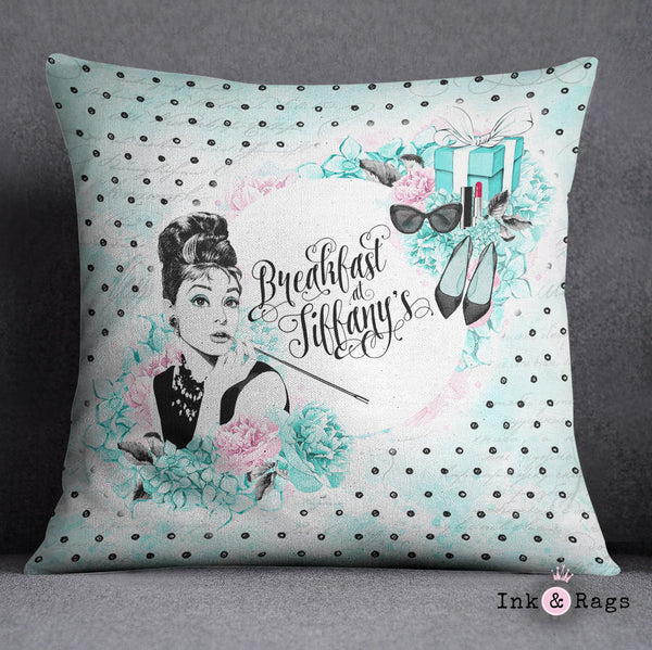 Breakfast at Tiffany Beauty and Fashion Decorative Throw Pillow Cover