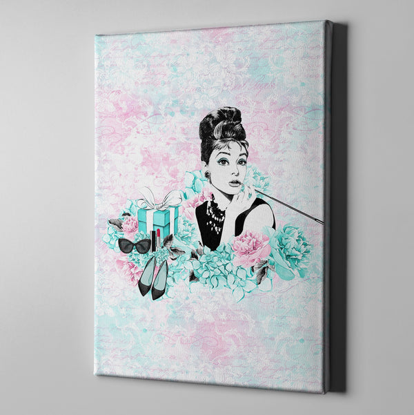 Breakfast at Tiffany Beauty and Fashion Gallery Wrapped Canvas