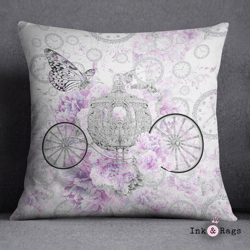 Cinderella Butterfly Fashion Throw Pillow