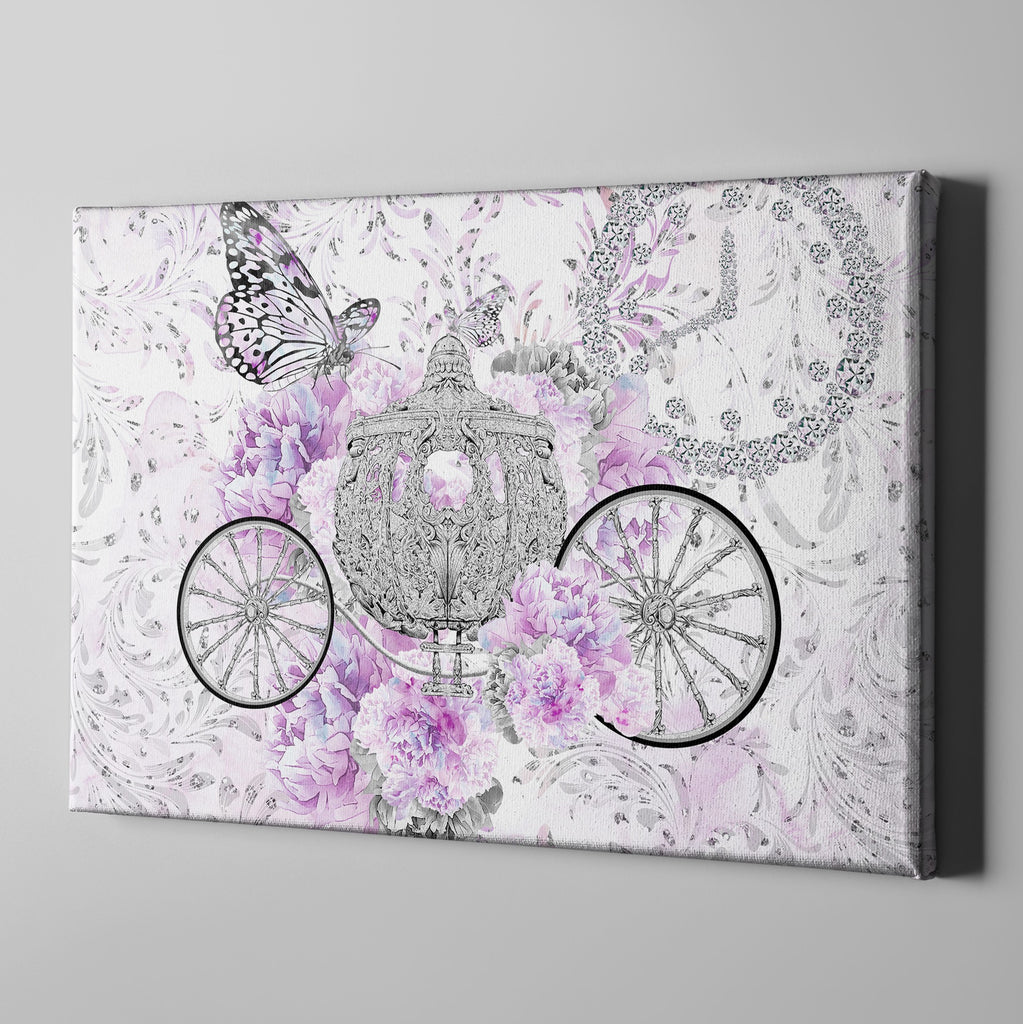 Cinderella Butterfly Fashion Gallery Wrapped Canvas