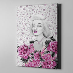 Marilyn on Diamonds Gallery Wrapped Canvas