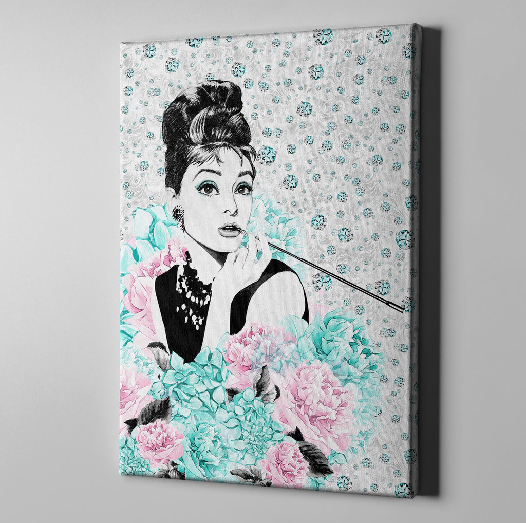 Audrey on Diamonds Gallery Wrapped Canvas